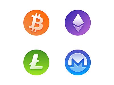 Crypto Icons app ios cryptocurrencies crypto icons fresh gradient icon