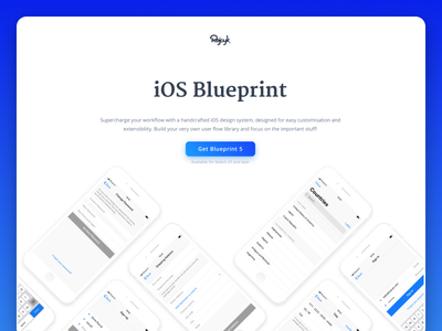Blueprint - Landing Page system default ios 11 template ios blueprint landing page
