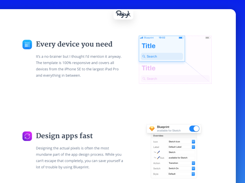 Blueprint features by denis rojyk dribbble malvernweather Image collections