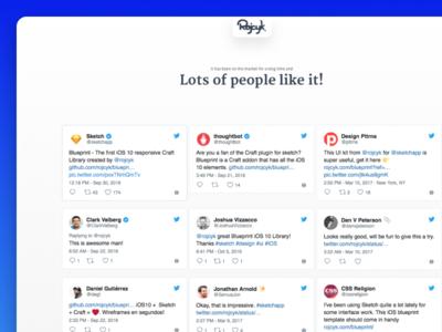 Blueprint - Social system default ios 11 template ios blueprint landing page