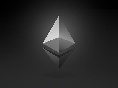 Ethereum 3D branding white black noir logo cryptocurrency blockchain ethereum eth