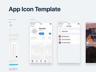 App Icon Template mobile ipad iphone ios template icon app