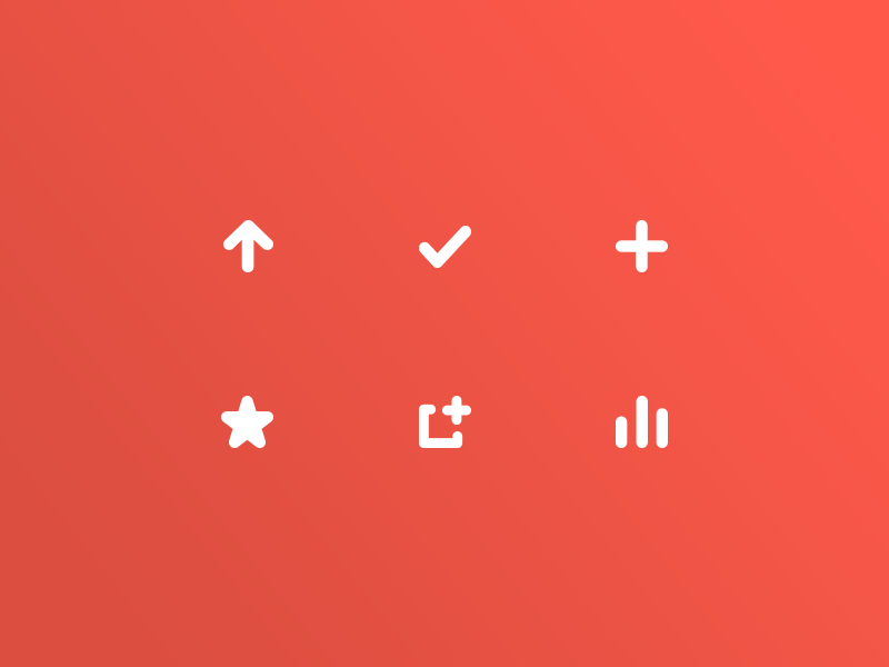 The Burger Collective / Icon Set burger ios food app minimalist red button set icon