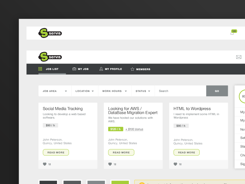 S Service Web Platform / Style Guide by Neopix on Dribbble
