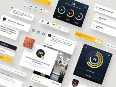 Personal Performance App / UI Elements