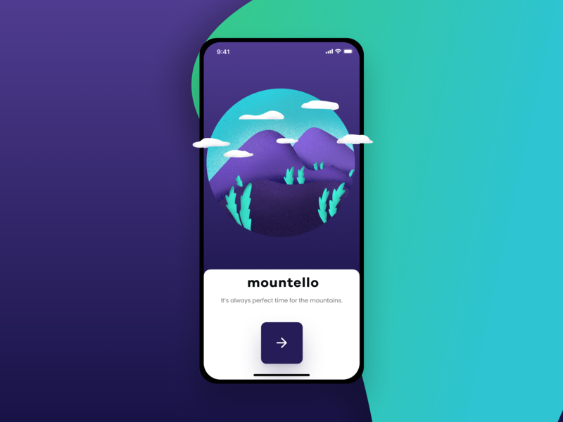 Mountello Concept travel app mountains travel care plant interface business mobile creative app ia ios agency modern typography gradient flat ux ui figma