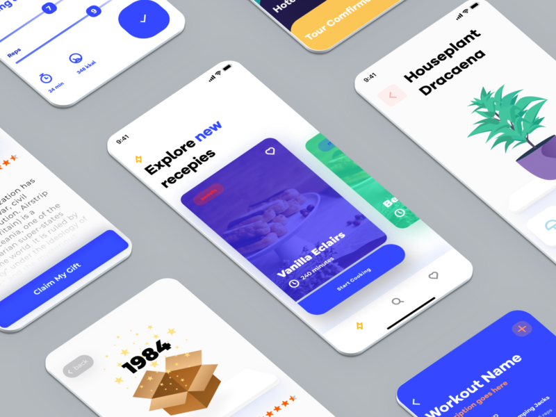 March Showcase app branding illustration creative mobile business agency modern typography gradient flat interaction interface user experience user interface ui ux etheric showreel showcase