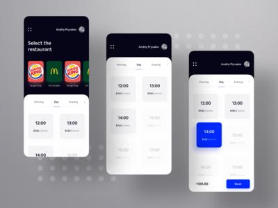 Restaurant Booking UI