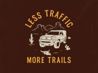 Less traffic, more trails