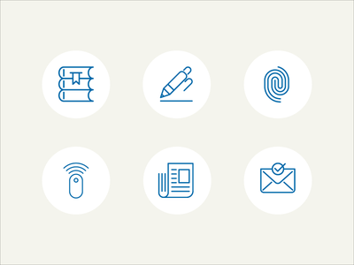 At the office intranet webdesign ui outline tiny icons pictograms office