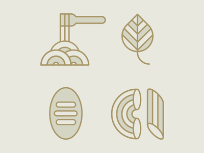 Italian food in progress pasta italian restaurant food vector simplify visual artdirection graphicdesign pictograms illustration icons