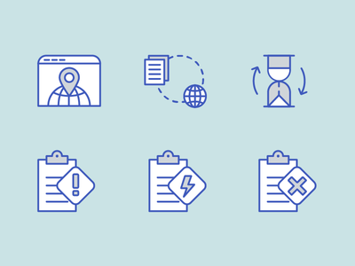 Regional / Local data interface ui web clean outline pictograms icons