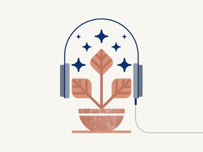 Love pt.3 plant pictogram pastel flat outline love music vector illustration icon