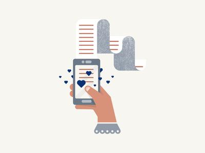 Love pt.4 vector digital mobile letter pictogram pastel love illustration icon flat