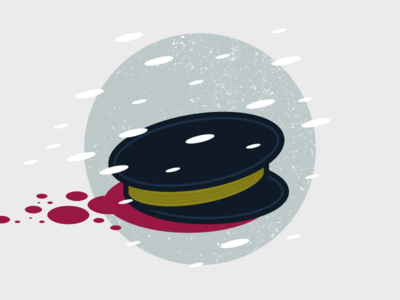 This place wants us dead hat blood terror illustration flat vector snow ice tv