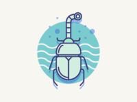 Submarine beetle
