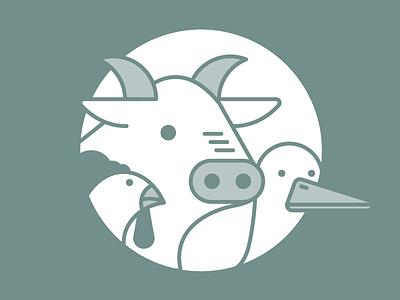 Essere Animal - Illustrated set animal illustration characters pictograms vegan animal vector flat illustration outline