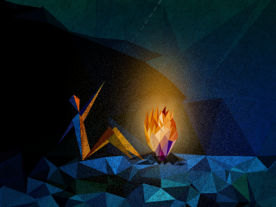 From man-made fire to… polygon moon man-made fire illustrator photoshop dmesh