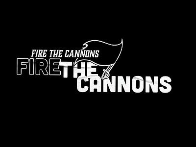 Fire The Cannons Tampa Bay Superbowl Print cubano illustrator tampa tampa brady fire the cannons tshirt art type superbowl buccaneers tampa bay tshirtdesign tshirt typography design