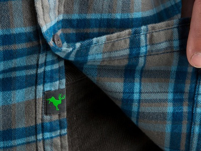 Stio Junction Flannel Pattern Close Up