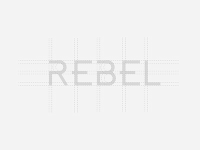 Rebel Cycle Logo Gridlines