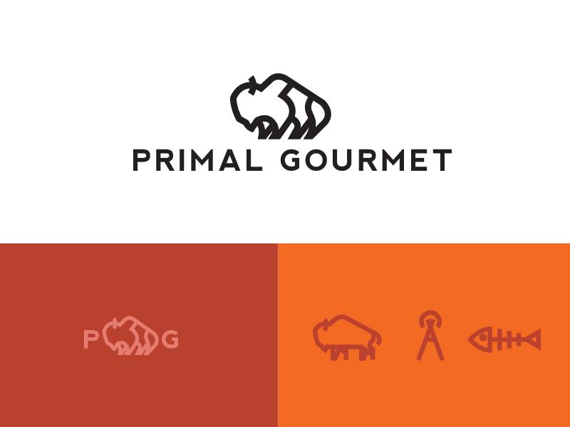 Primal Gourmet Logo logo food
