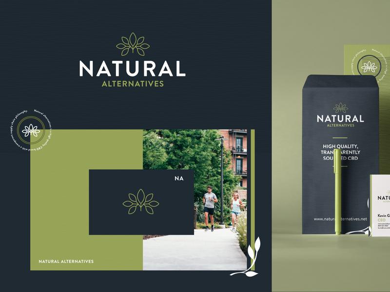 Natural Alternatives CBD cannabis health health care plant logo plant logo health and fitness natural history cbd