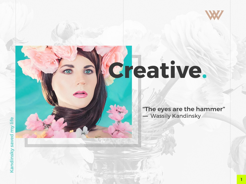 Shot No. 1 themeforest viworx web design web flowers design creative clean kandinsky minimalism minimalistic art