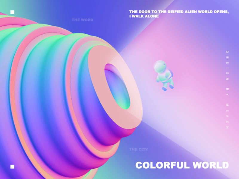 Colorful world 3d