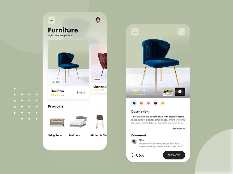 App Furniture ui