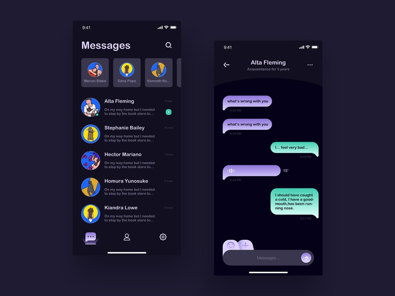 Day08 Messages ui