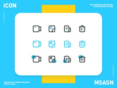 Three style icons msasn icon ui