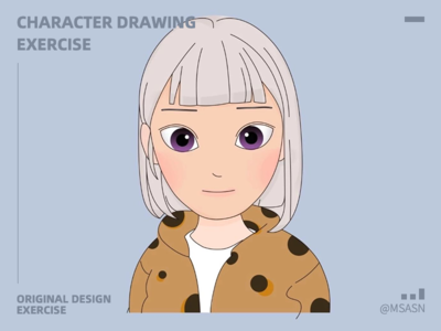Character drawing exercise 插图 msasn