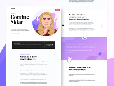 CMO Interview Page website icons cmo simple interview blog landing page layout data analytics