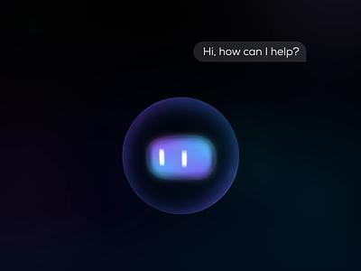 AI voice assistant design ui motion motion design robot ai voice assistant voice vui hmi form particular particle motion ui car ui animation