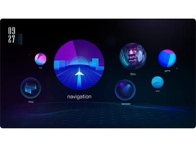 HMI for a Baidu×Panasonic driverless shuttle voice bubble vui animation automotive ui motion motion design hmi car ui