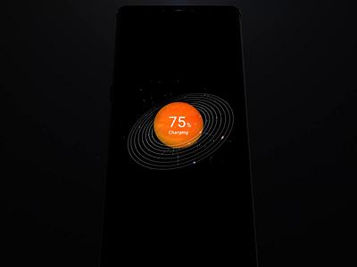 Realme charging UI motion design ui motion jupiter planet solar os charging charge motion particle motion design animation