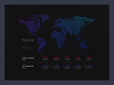 Apollo Security Center dashboad webdesign data ui motion motion motion design animation global hud earth map data visualization dataviz bigdata