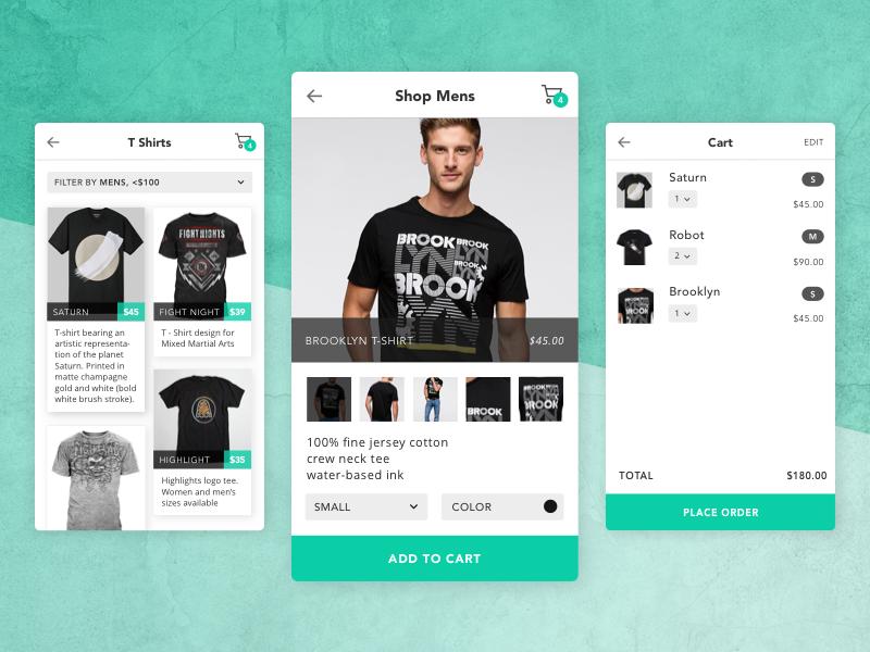 E-commerce mobile store