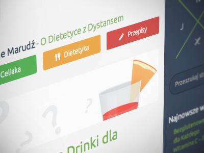Jedz Nie Marudź blog theme website template web design homepage gluten-free dietetics diet food recipes