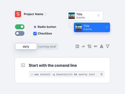 Sanity UI library ui kit design system styleguide ui icons app shadows