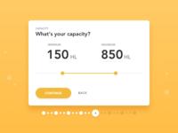 BrewBroker Capacity Slider