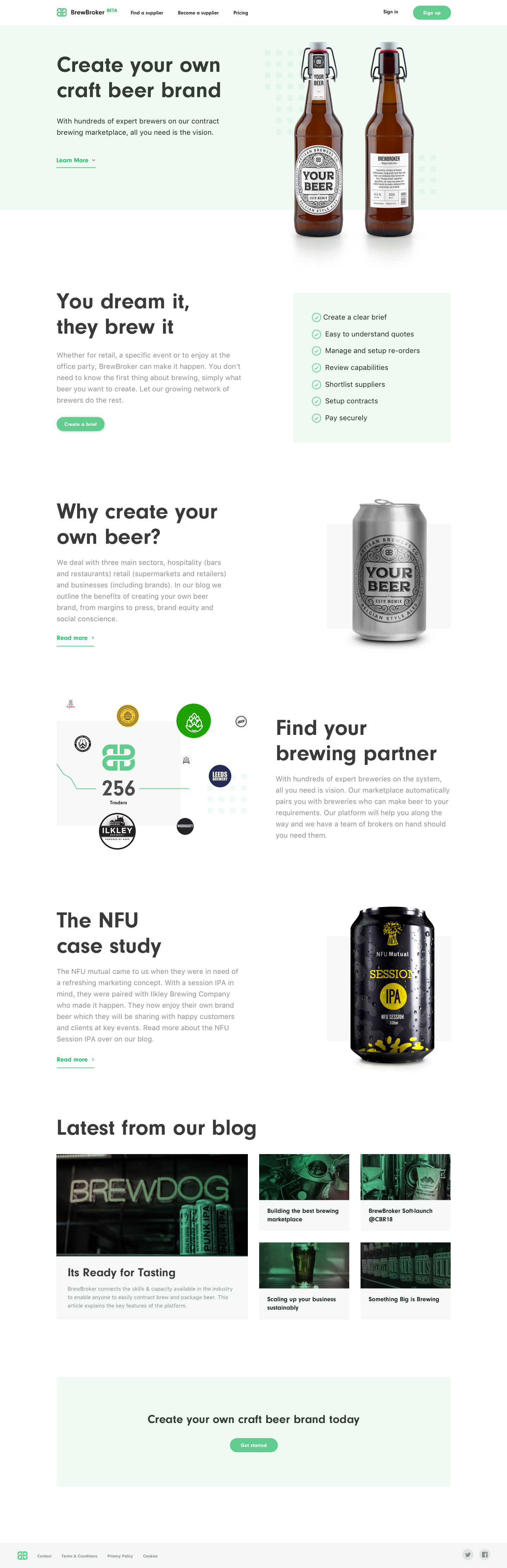 White labelling landing page