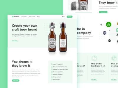 Brewbroker Landing Pages