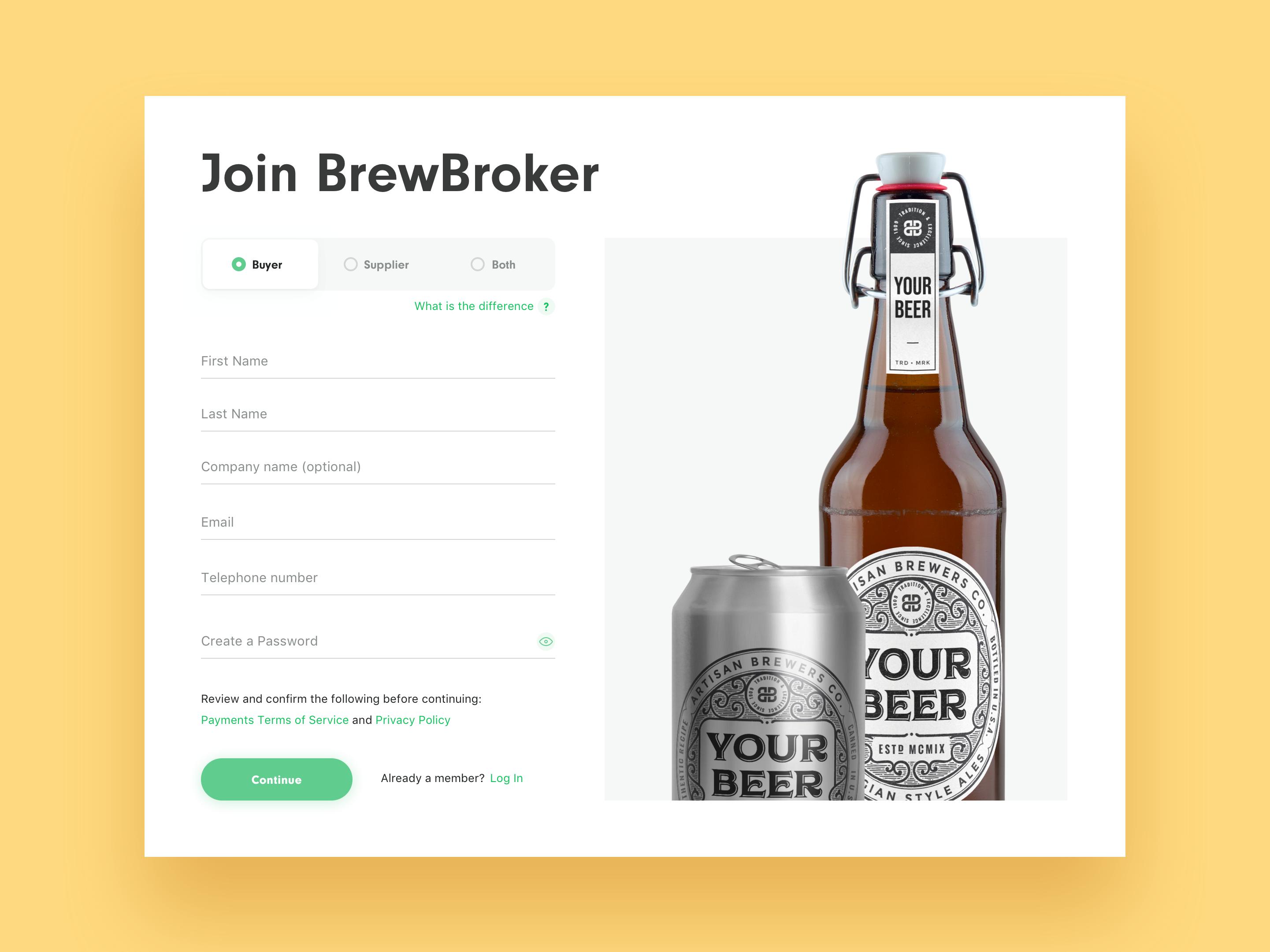 Brewbroker registration
