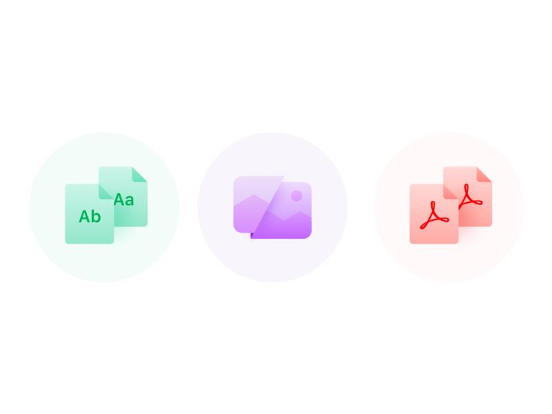 Diffchecker Icons illustration vector ui logo design gradient gradients shadows icons icon