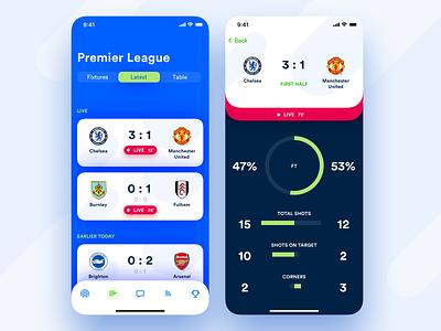 I'M Football – Stats play soccer football sport analytics charts game match tab bar list stats applicaiton app