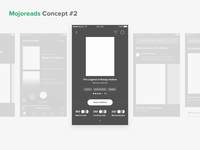 Mojoreads: Micro-interactions & Prototyping 🤏 books prototype wireframe mojoreads after effect ios principle concept interaction design ux app animation ui