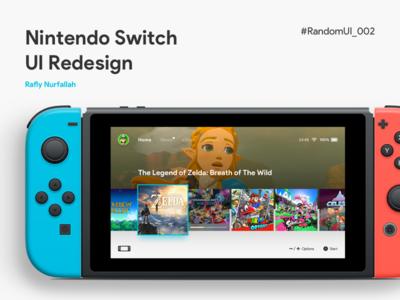 Nintendo Switch UI Redesign