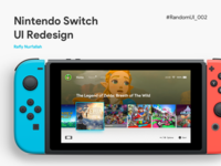 Nintendo Switch UI Redesign